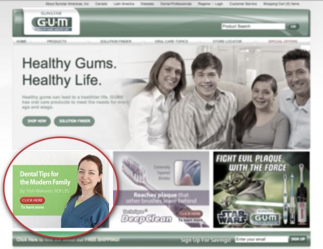 GUM Brand website with Trish Walraven