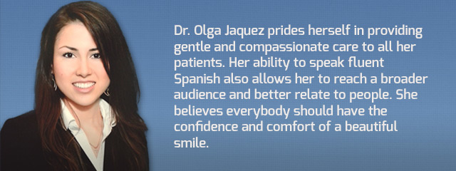 Dr Olga Jaquez, Spanish speaking dentist in The Colony, TX